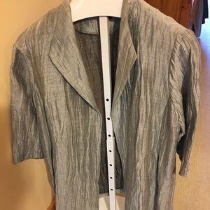 Eileen Fisher XL beautiful grey jacket